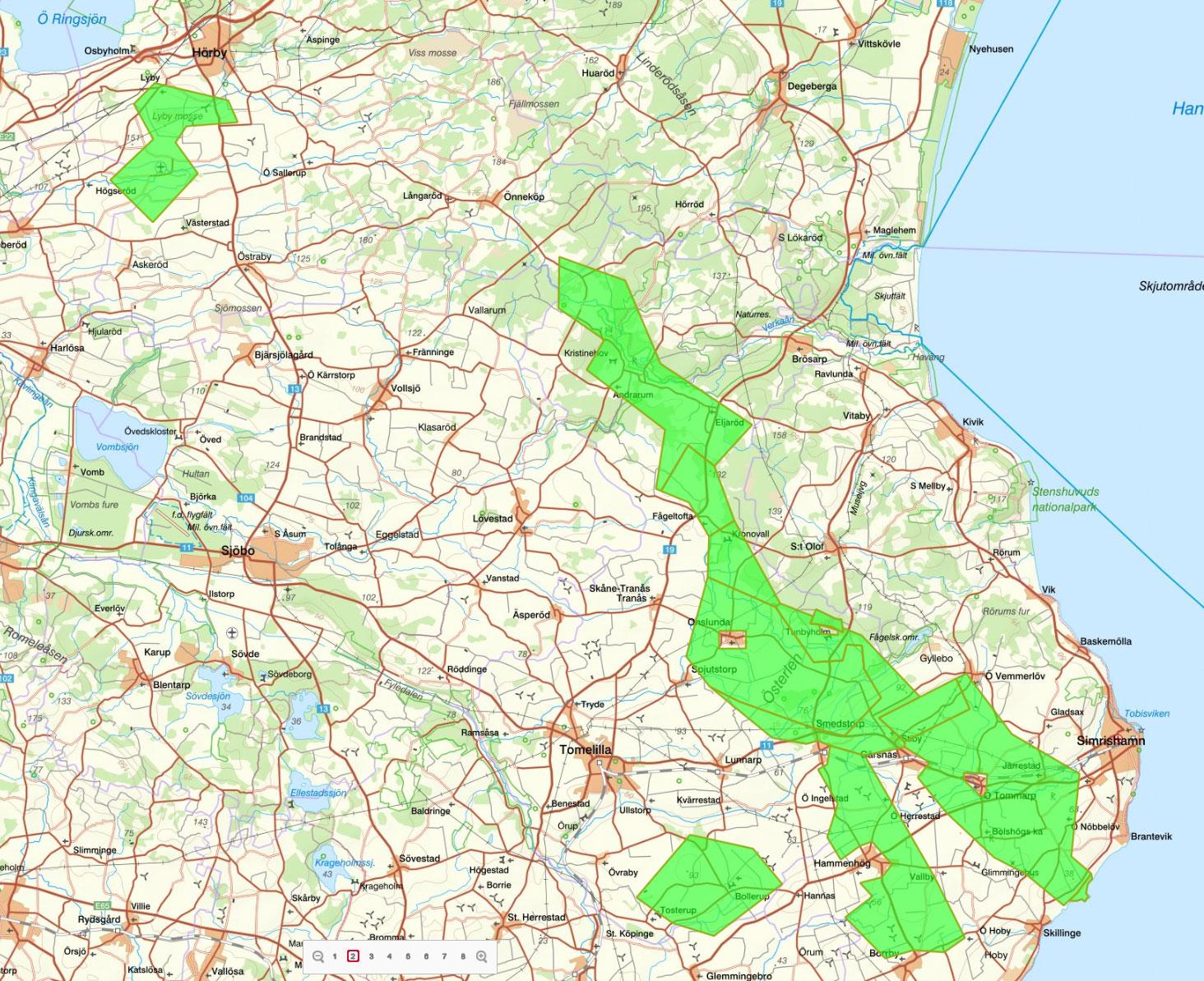 karta över tomelilla